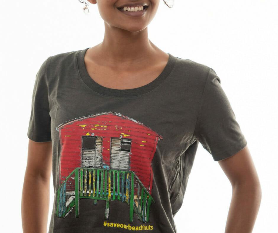 #SaveOurBeachHuts WOMEN'S T-shirt (by Cotton Art)