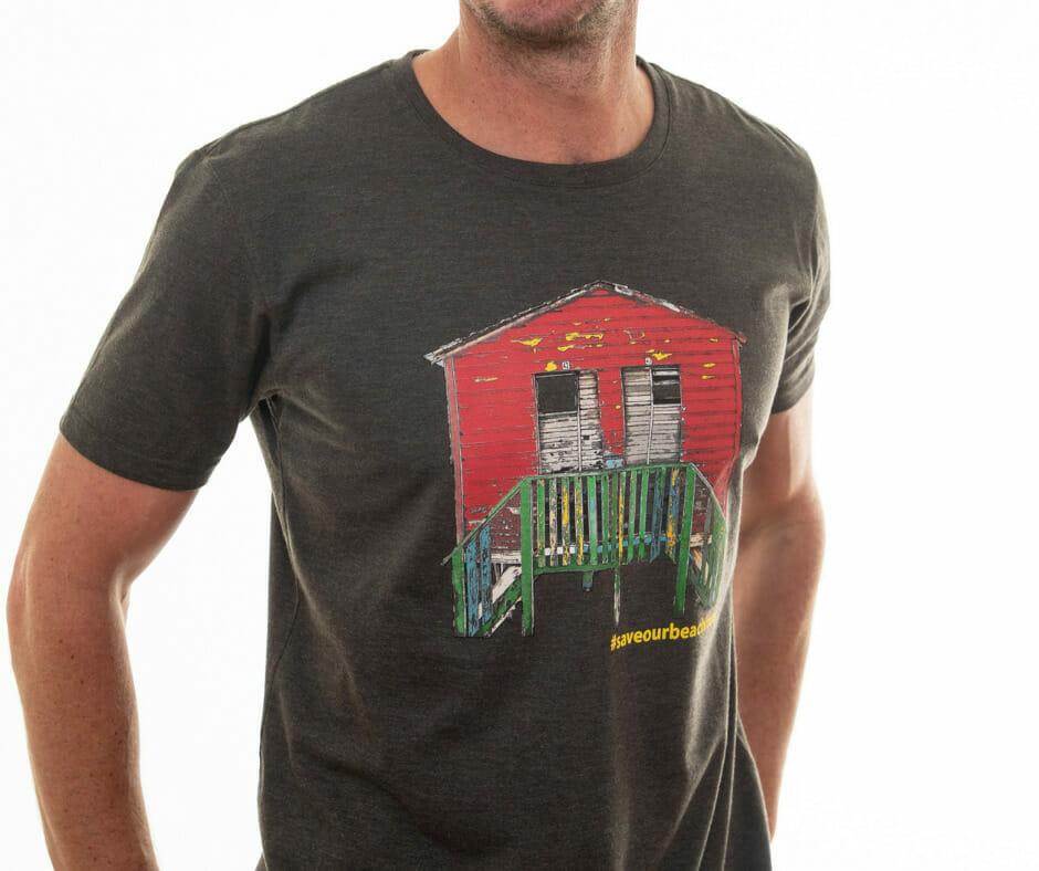 #SaveOurBeachHuts  MEN'S T-shirt (by Cotton Art)